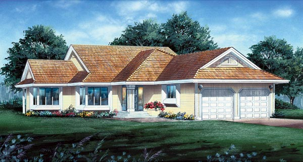 Ranch House Plan 55069 Elevation