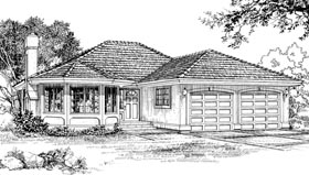 Florida House Plan 55071 Elevation