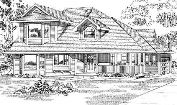 Contemporary House Plan 55073 Elevation
