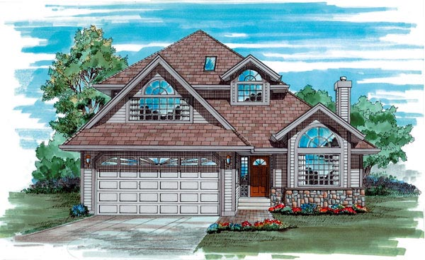 Traditional House Plan 55075 Elevation