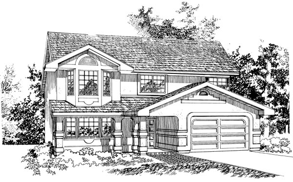 Contemporary House Plan 55077 Elevation