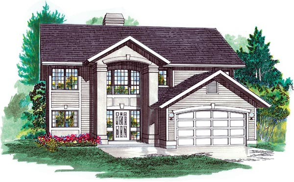 Contemporary House Plan 55078 Elevation