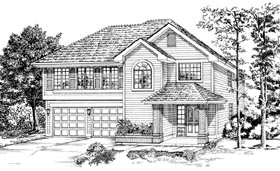 Traditional House Plan 55079 Elevation