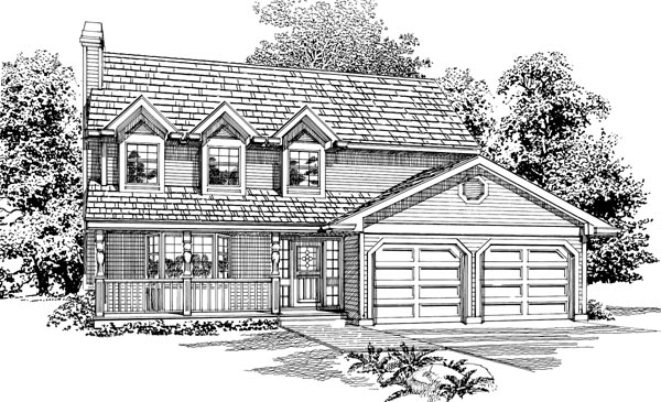 Country House Plan 55080 Elevation