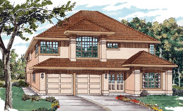 Florida House Plan 55081 Elevation