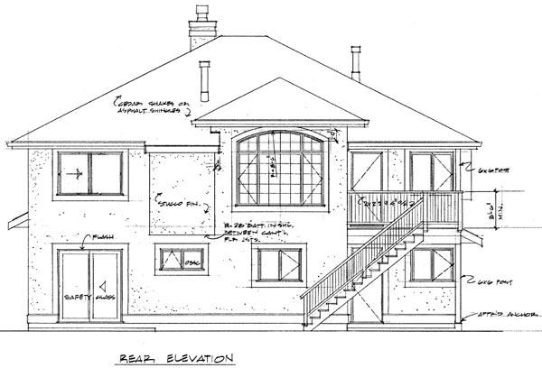 Florida House Plan 55081 Rear Elevation