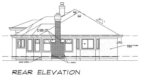 Florida House Plan 55083 Rear Elevation
