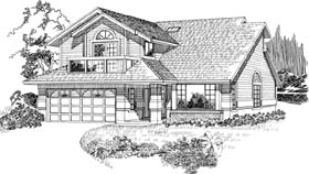 Contemporary House Plan 55086 Elevation