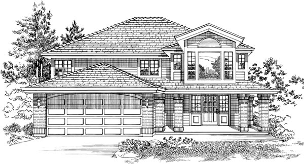 Contemporary House Plan 55089 Elevation