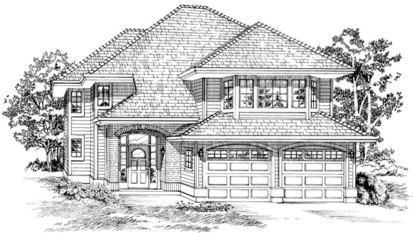 Contemporary House Plan 55090 Elevation