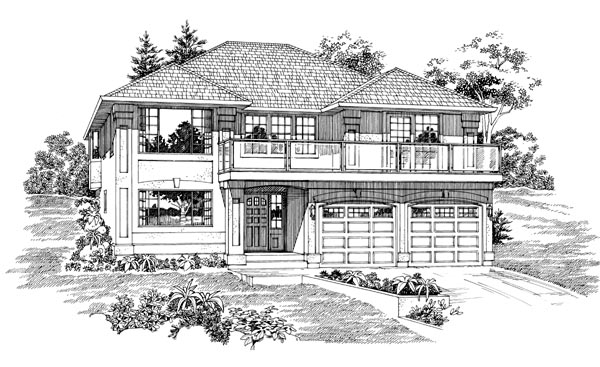House Plan 55091 | Mediterranean Style Plan with 1945 Sq Ft, 3 Bedrooms, 2 Bathrooms, 2 Car Garage Elevation