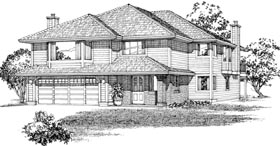 Contemporary House Plan 55092 Elevation
