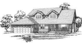 Country House Plan 55094 Elevation