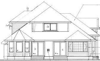 European House Plan 55095 Rear Elevation