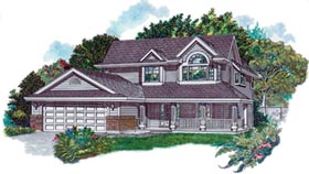 Country House Plan 55096 Elevation
