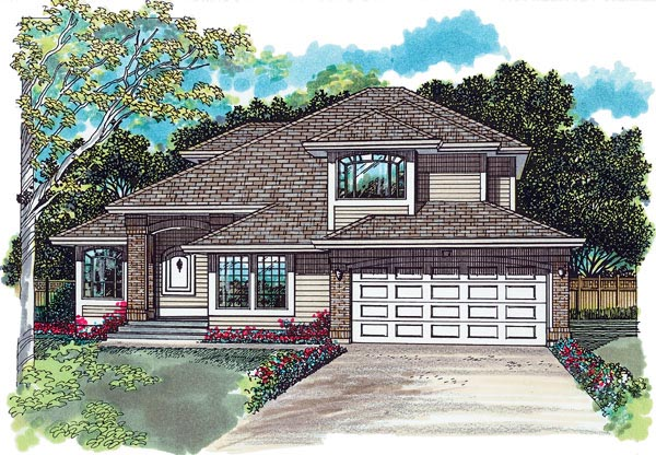 Contemporary House Plan 55097 Elevation