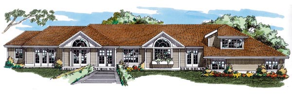 Ranch House Plan 55099 Elevation