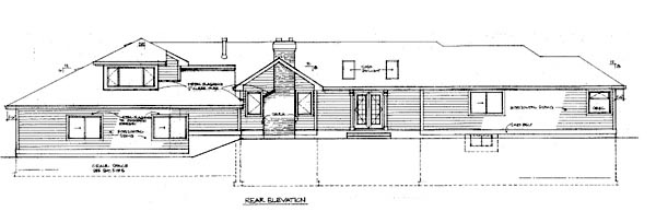 Ranch House Plan 55099 Rear Elevation