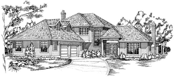 Contemporary House Plan 55100 Elevation
