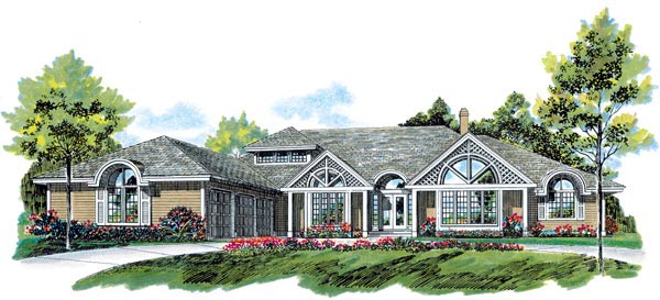 Contemporary House Plan 55101 Elevation
