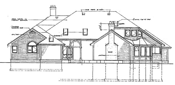 Contemporary House Plan 55101 Rear Elevation