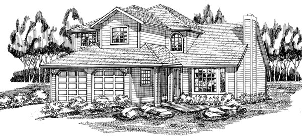 Contemporary House Plan 55105 Elevation