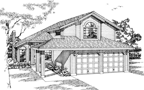 Contemporary House Plan 55106 Elevation