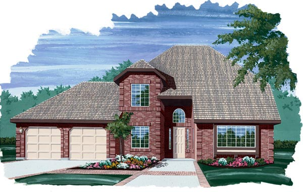 European House Plan 55107 Elevation