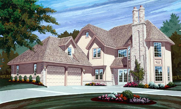 European House Plan 55111 Elevation