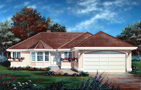 Florida House Plan 55112 Elevation