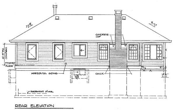 Florida House Plan 55112 Rear Elevation