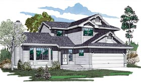 Contemporary House Plan 55113 Elevation