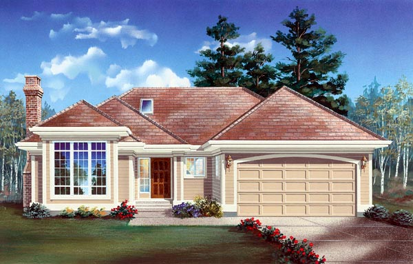 Contemporary House Plan 55115 Elevation