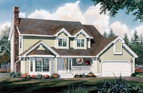 House Plan 55118 | Country Style Plan with 2011 Sq Ft, 4 Bedrooms, 3 Bathrooms, 2 Car Garage Elevation