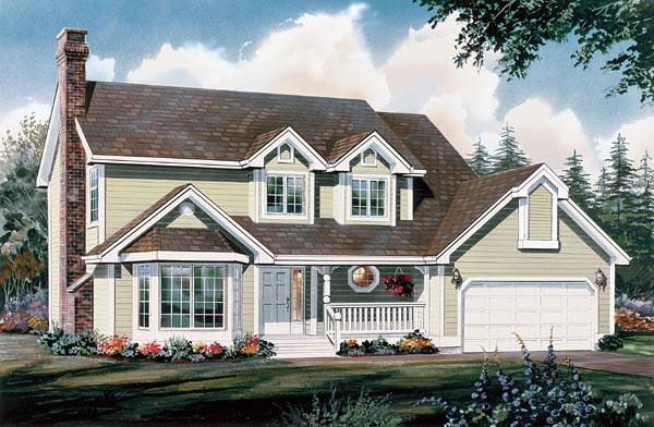 Country House Plan 55118 Elevation