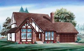Tudor House Plan 55119 Elevation