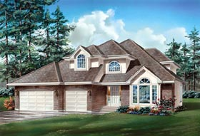 Traditional House Plan 55120 Elevation