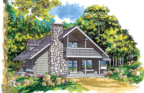 House Plan 55125 Elevation