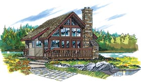 Traditional House Plan 55127 Elevation