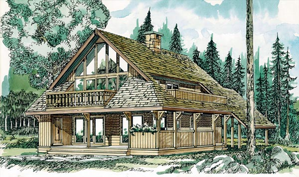 Contemporary House Plan 55128 Elevation