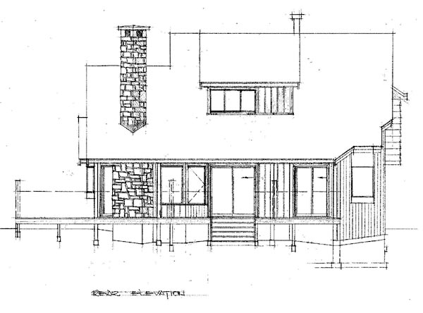 Cape Cod House Plan 55129 Rear Elevation