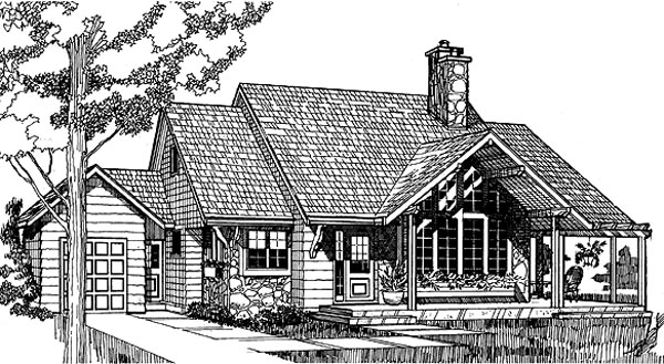 Country House Plan 55130 Elevation