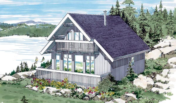 House Plan 55132 Elevation