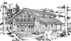 Contemporary House Plan 55133 Elevation