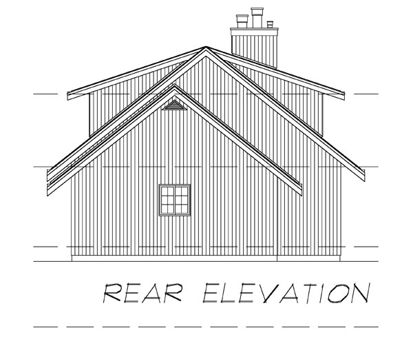Contemporary House Plan 55133 Rear Elevation