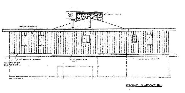 Contemporary Rear Elevation of Plan 55138