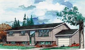 Contemporary Retro House Plan 55139 Elevation