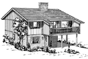 Contemporary House Plan 55141 Elevation