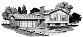 Retro House Plan 55142 Elevation