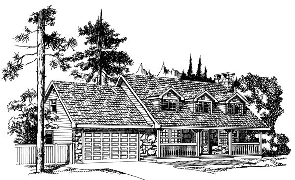 Cape Cod House Plan 55143 Elevation
